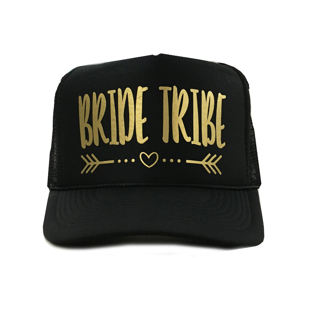Load image into Gallery viewer, Bride Tribe Trucker Hat, Bridesmaid Hat, Bride Squad Hat, Bachelorette Party Hats