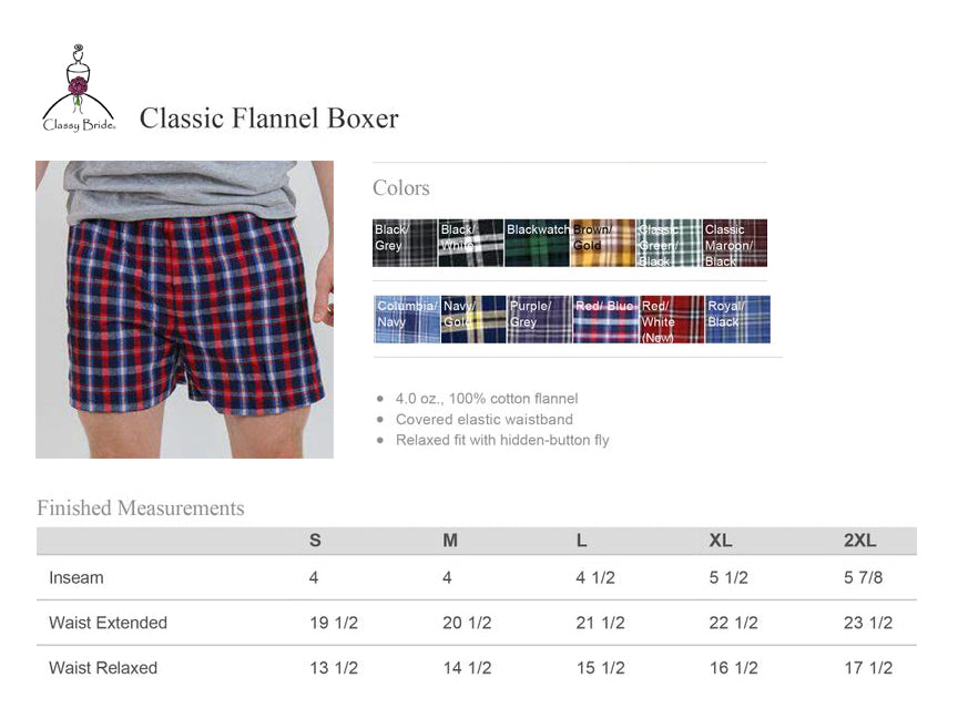 Mr. and Mrs. Flannel Boxer Set