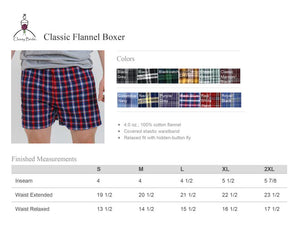 Groom Flannel Boxers