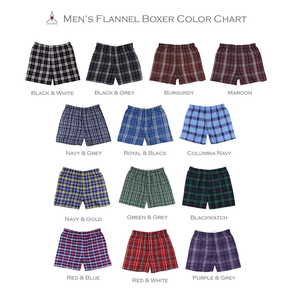 Hubby Flannel Boxers, Groom Flannel Boxers, Wedding Day Underwear, Groom Underwear