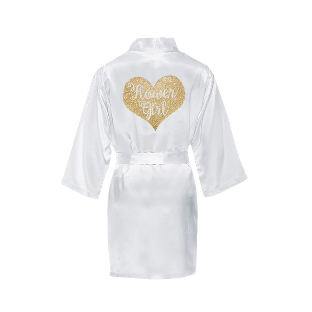 Flower Girl Robe, Rhinestone Girls Robe, Flower Girl Gifts