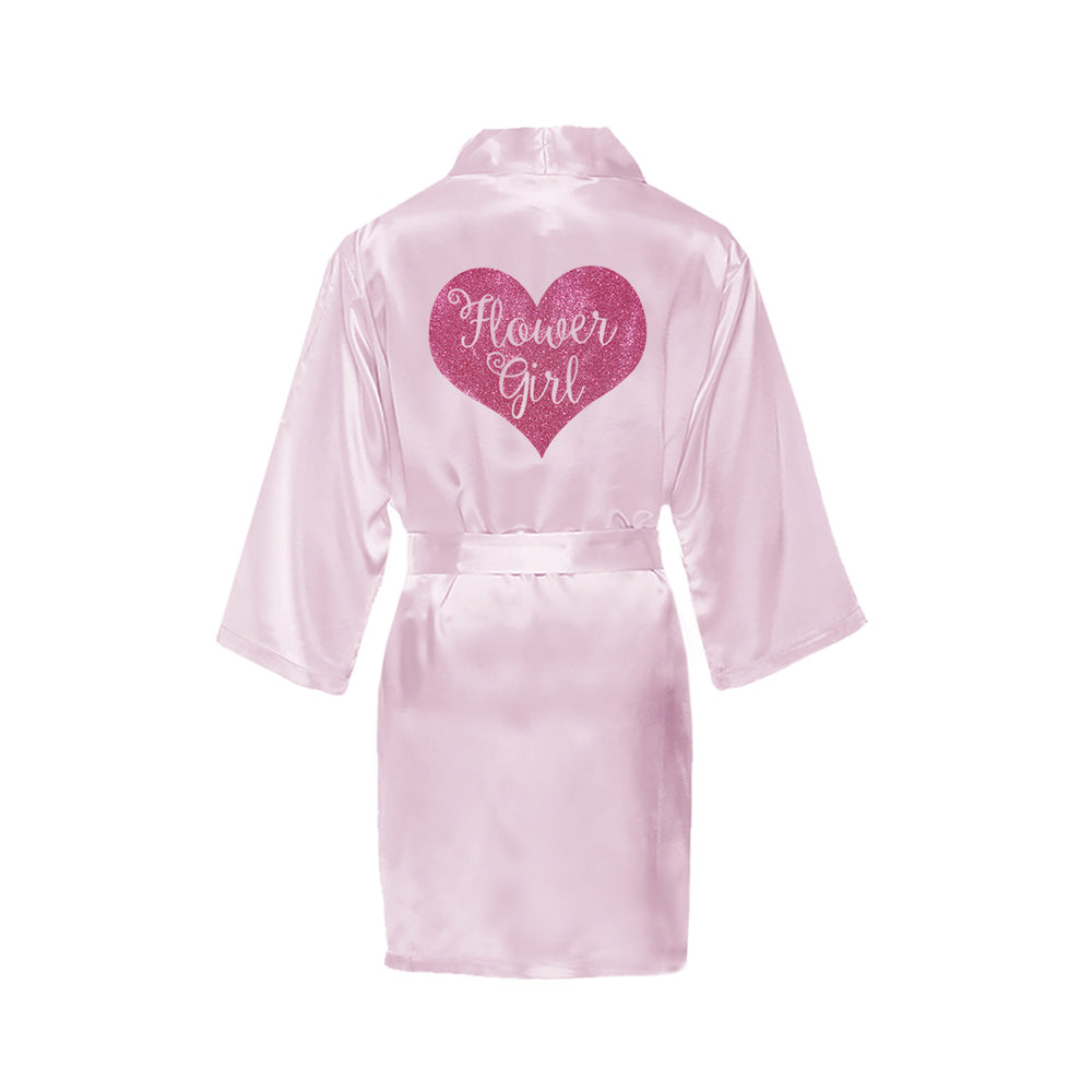 Load image into Gallery viewer, Flower Girl Robe - Glitter Heart