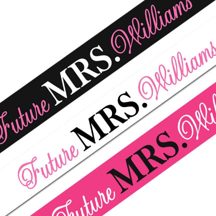 Personalized Future Mrs. Sash