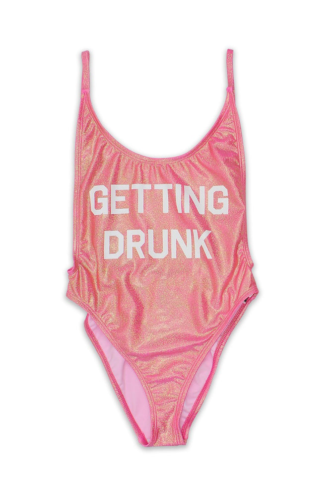 Getting Drunk High Cut Vintage One Piece
