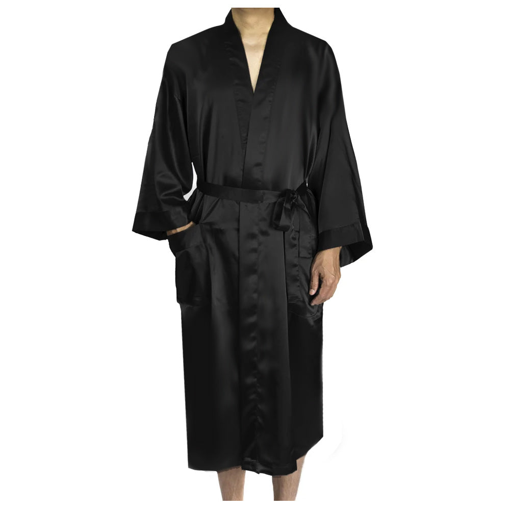 Load image into Gallery viewer, Customized Hubby Satin Robe