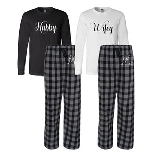 Wifey and Hubby Pajama Set - Established