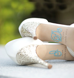 "Load image into Gallery viewer, ""I Do"" Rhinestone Shoe Applique"