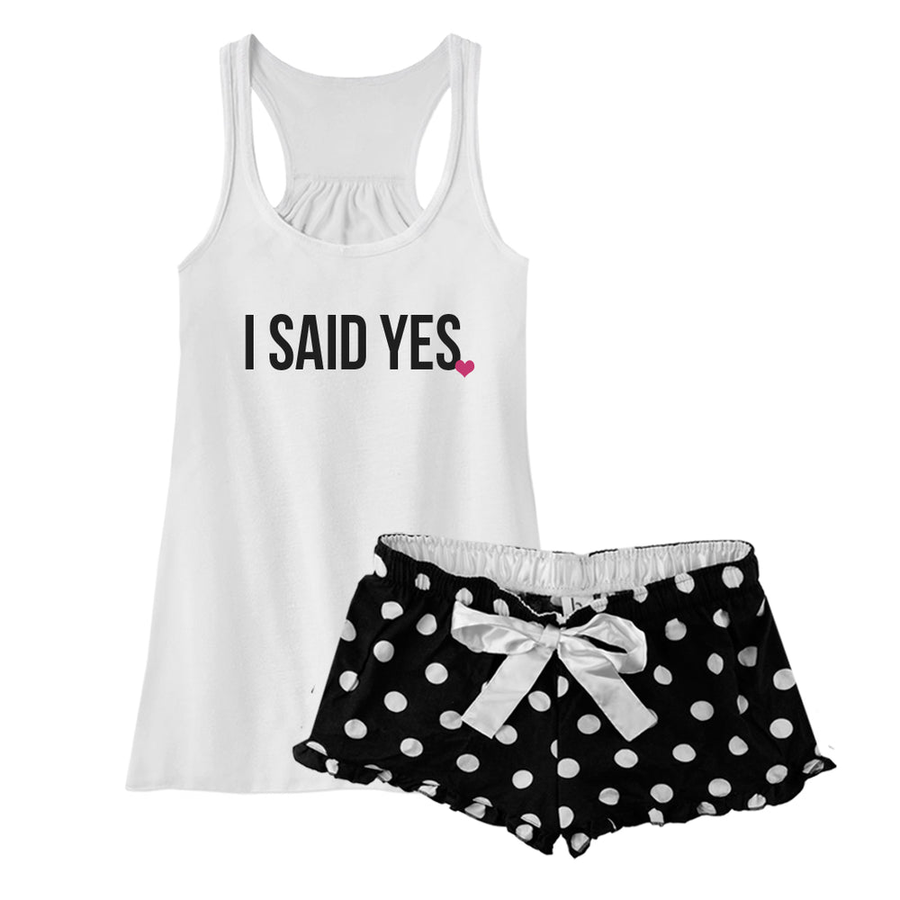 I Said Yes Pajamas, Bride Pajamas, Bachelorette Party Gift, Bachelorette Lingerie