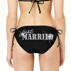 Just Married Classic String Bikini