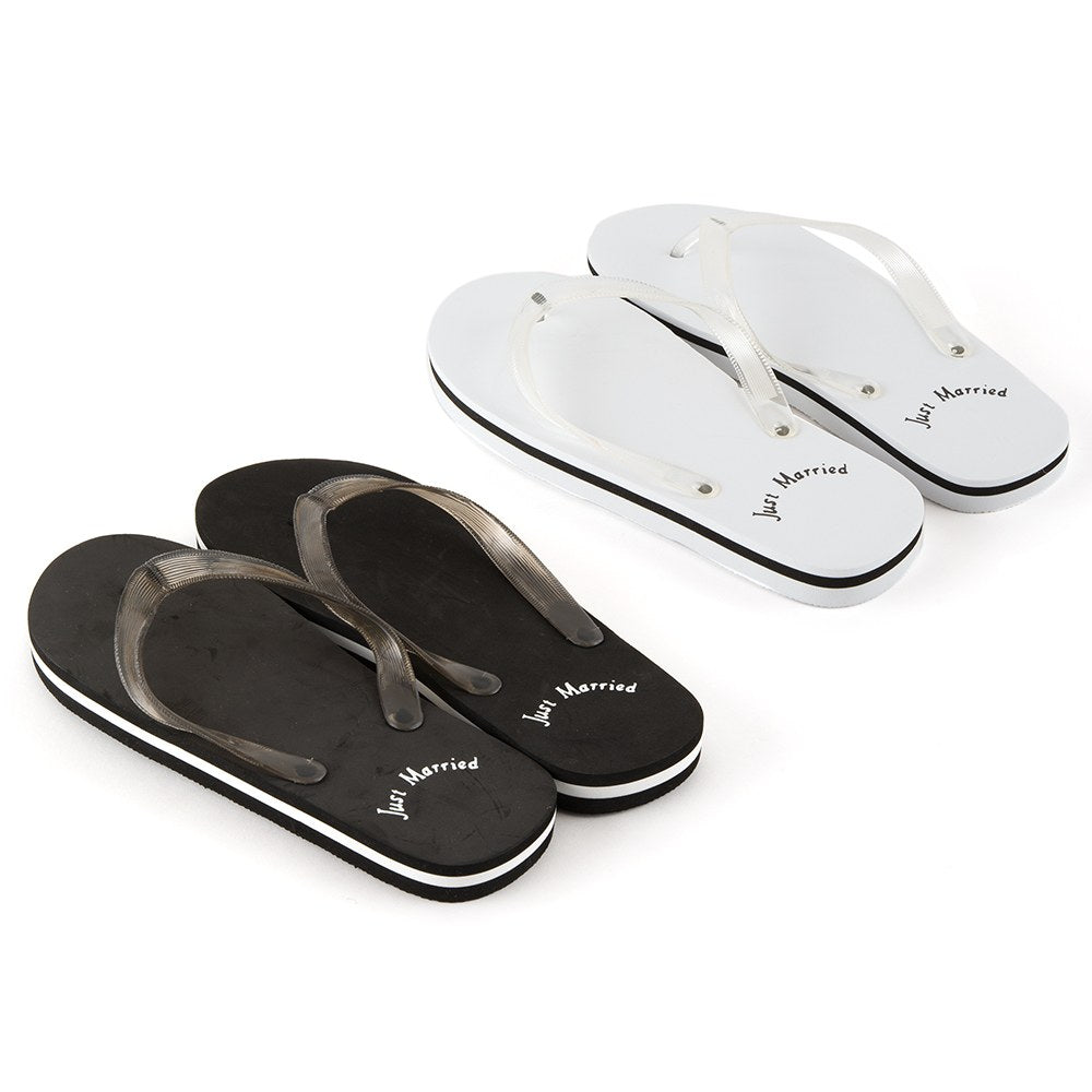 Just Married Flip Flops - For Her