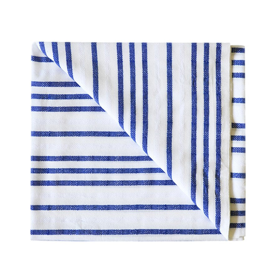 Load image into Gallery viewer, La Bahia Beach Blanket, La Bahia Towel, Las Bayadas, Striped La Bahia