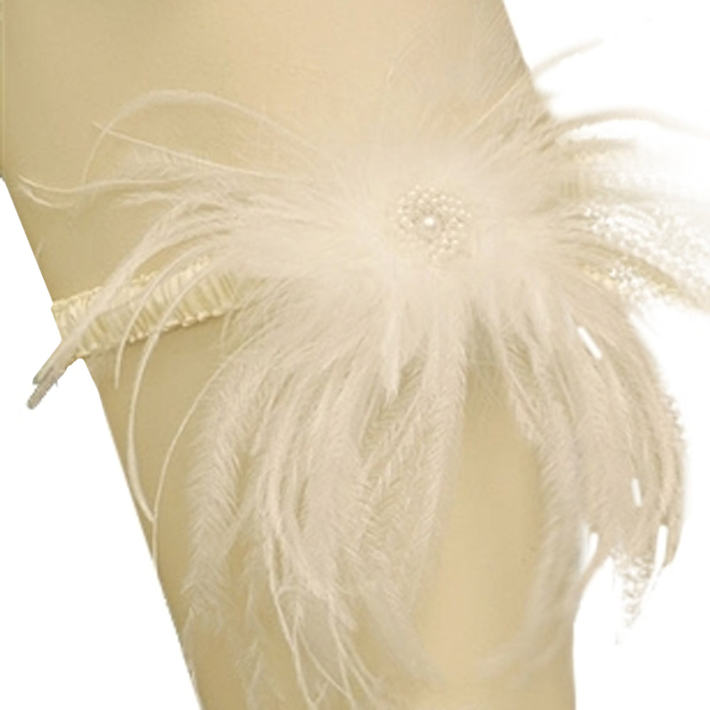 Load image into Gallery viewer, Breathless Feather Couture Garter