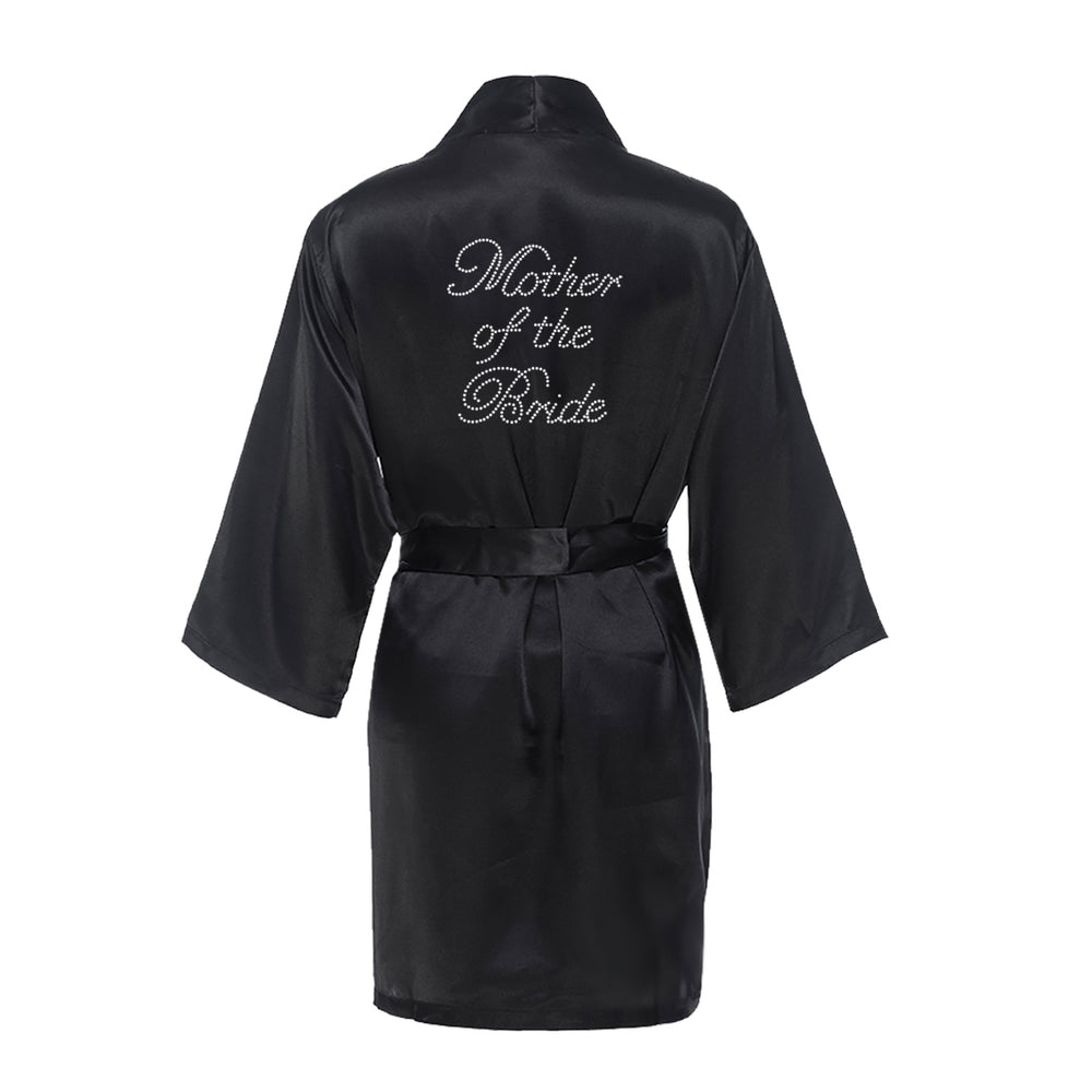 Load image into Gallery viewer, Rhinestone Mother of the Bride Satin Robe