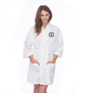 Load image into Gallery viewer, Monogrammed Waffle Spa Robe