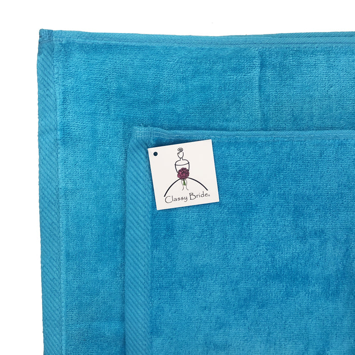 Mr. and Mrs. Towel Set - Turquoise