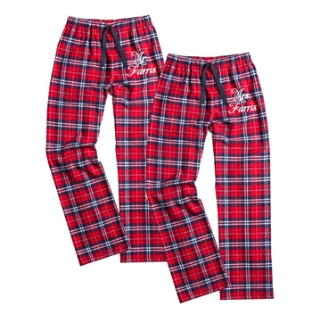 Personalized Mr. and Mrs. Flannel Pajamas, Bride and Groom Pajamas, Mr. and Mrs. Flannels