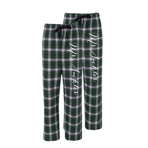 Mr. and Mrs. Personalized Pajama Pants