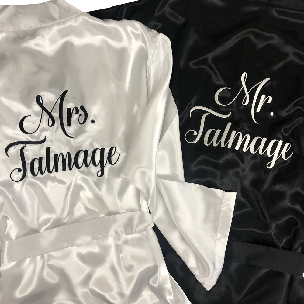Personalized Mr. and Mrs. Robe Set