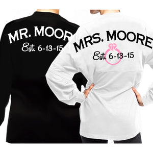 Load image into Gallery viewer, Personalized Mr. & Mrs. Wedding T-Shirt Set