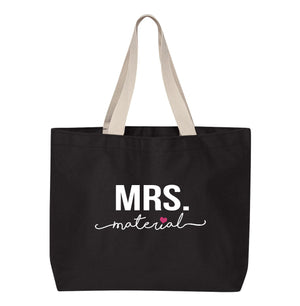Load image into Gallery viewer, MRS. Material Bridal Tote Bag