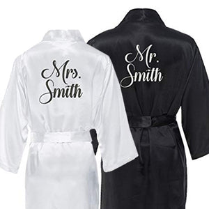Mr. and Mrs. Robe Set, Bride and Groom Robes, Gifts for the Couple