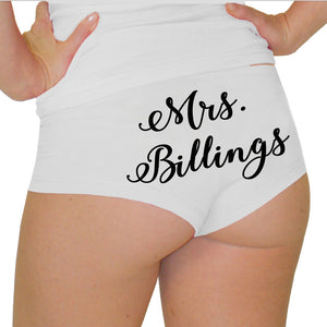 Personalized Mrs. Bridal Boyshorts