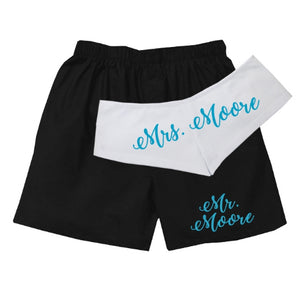 Personalized Mr. and Mrs. Underwear Set