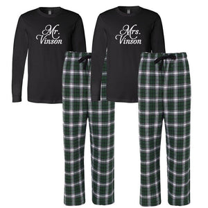 Personalized Wedding Pajamas, Mr. and Mrs. Pajamas, Couples Pajamas, Gifts for the Couple