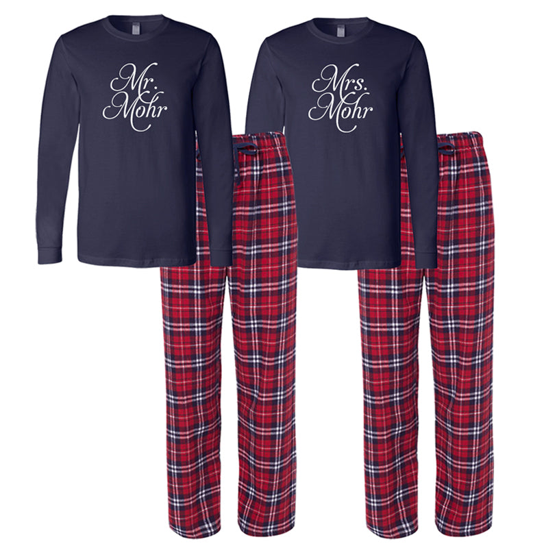 Personalized Mr. and Mrs. Pajamas, Mr. and Mrs. Pajama Set, Bride and Grooom Pajamas, Gifts for the Couple