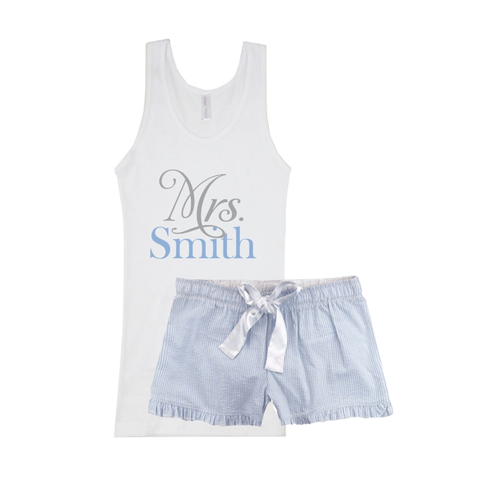 Personalized Mrs. Boxers, Mrs. Pajamas, Personalized Pajamas