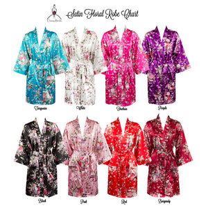 Load image into Gallery viewer, Floral Satin Robe