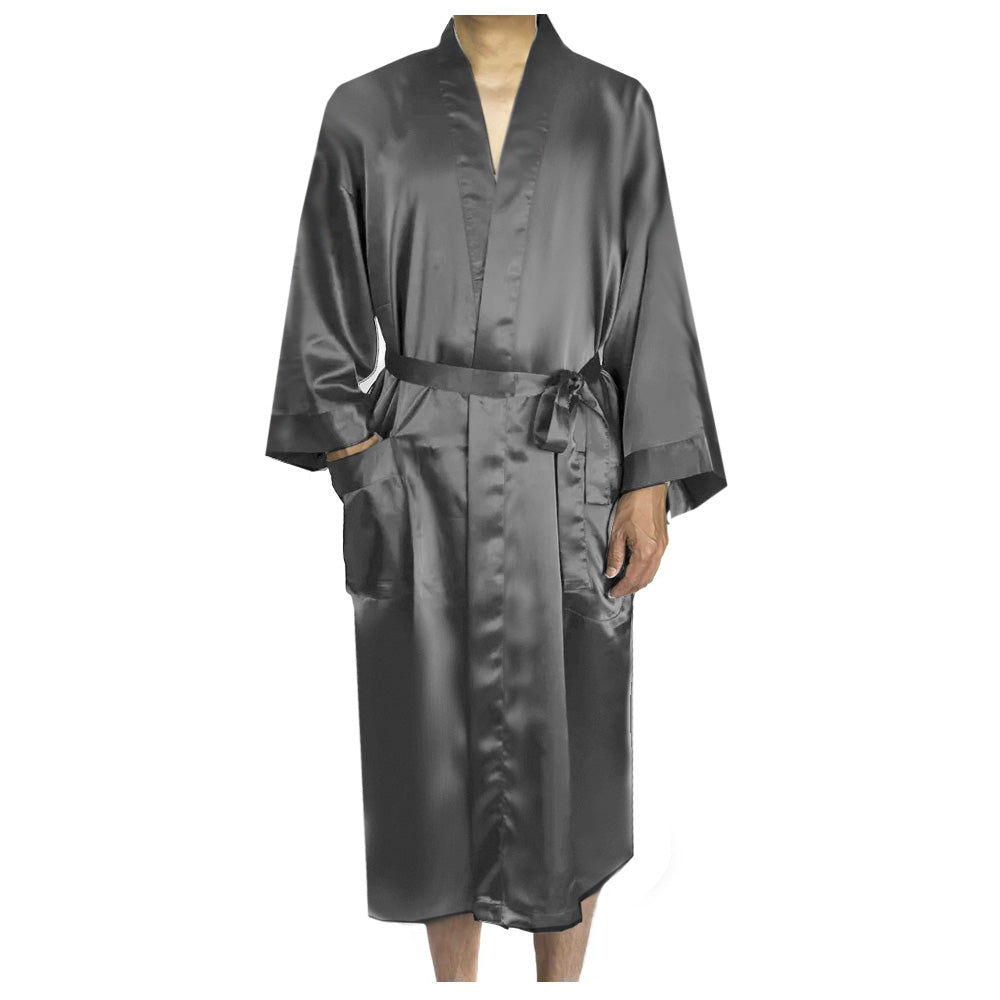 Load image into Gallery viewer, Hubby Satin Robe