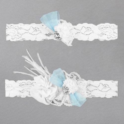 Something Blue Personalized Garter