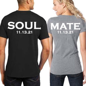 Soul Mates T-Shirt Set, Bride and Groom Shirts, Honeymoon T-Shirts