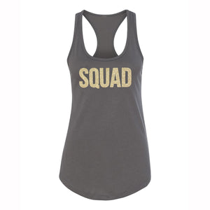 Load image into Gallery viewer, SQUAD Glitter Racerback Tank Top