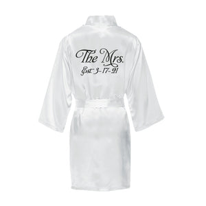 The Mrs. Satin Robe with Wedding Date