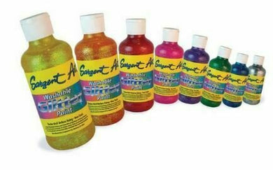 Washable Glitter Paints - Set of 6