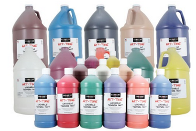 Set of 10 Classroom Liquid Washable Tempera Paints