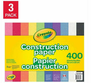 Crayola Construction Paper 400-sheet 3/pack