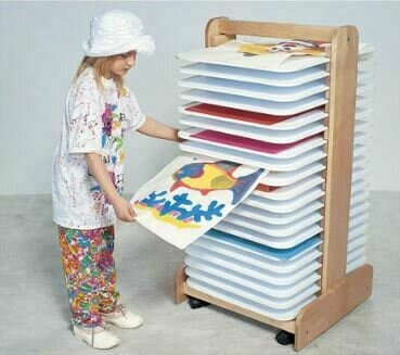 Tall Wooden Paint Drying Rack