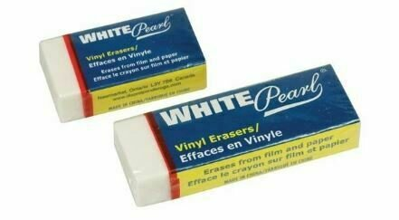 White Pearl Erasers