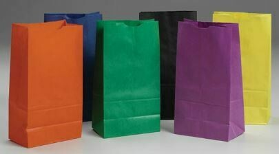 Rainbow Paper Bags-Bright