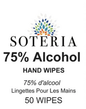 Load image into Gallery viewer, Alcohol Hand Wipes 75% by Soteria 50/Pack