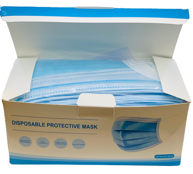 Blue Disposable PROTECTIVE MASKS with Earloop
