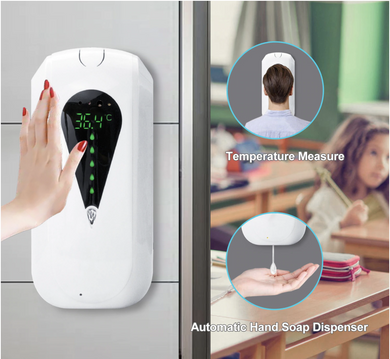Touchless Digital Hands Free Sanitizer/Soap Dispenser Infrared Thermometer