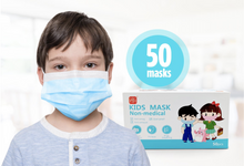 Load image into Gallery viewer, Kids Disposable 3 Ply Facemask 50/Box