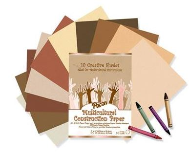 Multicultural Construction Paper (Various Sizes)