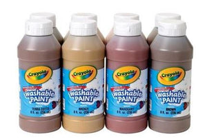 Crayola Multicultural Washable Paint, Set of 8