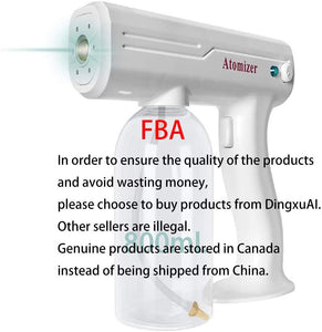 Wireless Disinfectant Fogger Machine, Superfine Atomized Particles, Handheld Rechargeable Nano Steam Atomizer 800ml