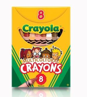 Crayola Crayons, Multicultural, Set of 8